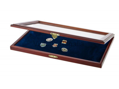 Masonic Lapel Pins Display Wooden Showcase