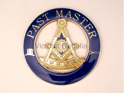 Masonic Past Master Square and Compasses with G Self Adhesive Metal Car Decal