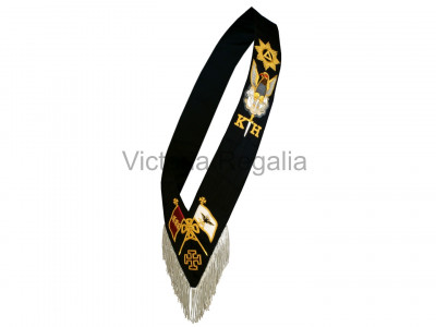 30th Degree Full Set: Collarette with Eagle Jewel, and Sash with Star Jewel - English Constitution