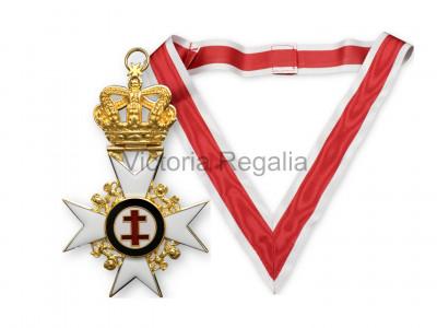 Knights Templar Past Preceptors Collarette and Jewel Set - English Constitution