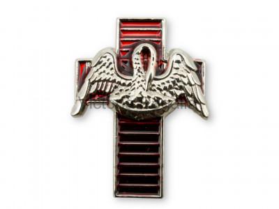 18th Degree Pelican on Red Cross Masonic Freemasons Lapel Pin