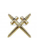 Crossed Swords Masonic Freemasons Lapel Pin