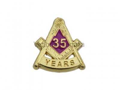 Freemasons Masonic 35 YEAR Lapel Pin