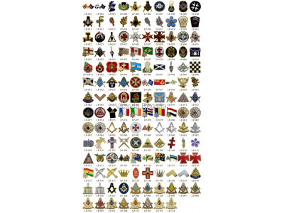 Selection of Ten (10) Masonic Lapel Pins in Presentation Box