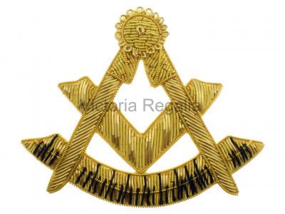 Masonic Hand-Embroidered Gold Bullion Wire Past Master Flap Badge - Scottish Constitution