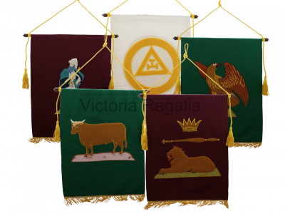 Large Royal Arch Chapter Banners Full Set of 5