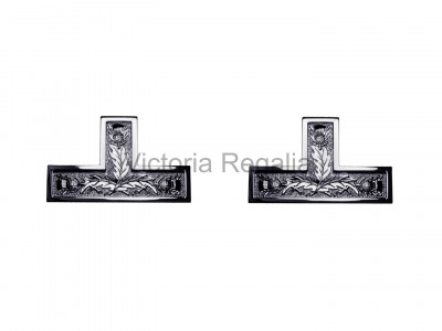 Masonic Set of 2 Thistle Silver Plated Past Master Apron Levels - Scottish Constitution