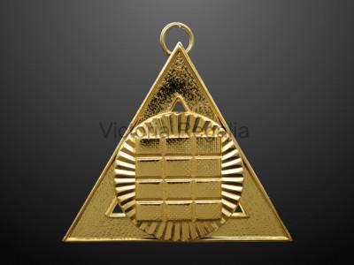 "3rd Principal ""J"" Royal Arch Office Bearers Collar Jewel - Scottish"