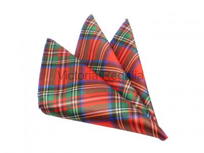 Royal Stewart Tartan Print Pocket Square