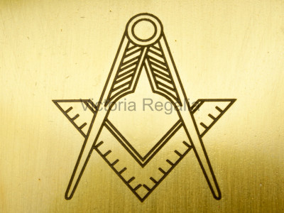 Masonic Trowel with Square and Compasses - Brass