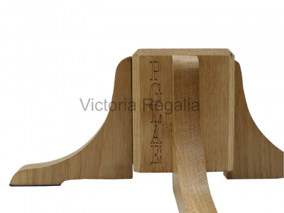 Hardwood Stand for Banners and Wands - Lodge and Chapter Furnishing