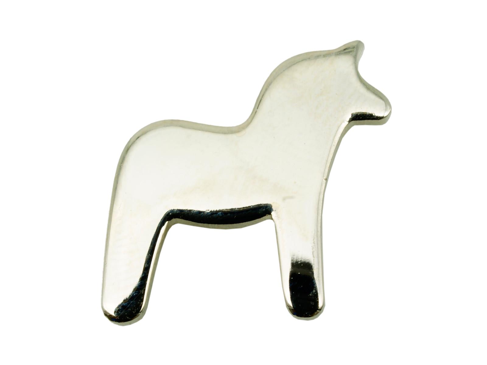Horse Shaped Silver Custom Lapel Pin
