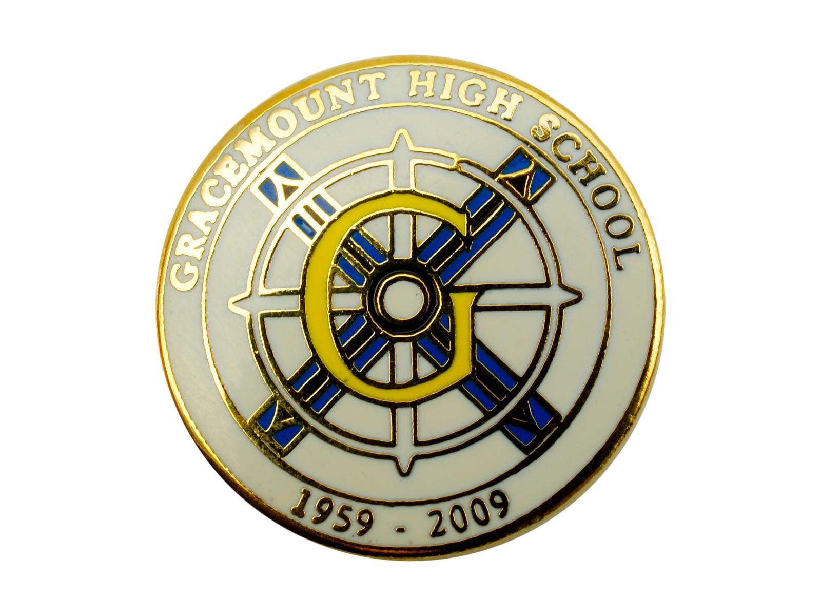Custom Round Lapel Pin For School